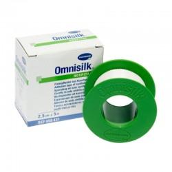 Лейкопластырь гипоаллергенный, Омнисилк р. 2.5смх5м №1 арт. 900501 из искусственного шелка белый пласт. упаковка
