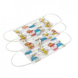 Маска медицинская для детей, №50 Латио на резинке с рисунком звери
