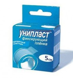 Лейкопластырь, Унипласт р. 5смх500см №1 на пленочной основе прозрачный гипоаллергенный прозрачный
